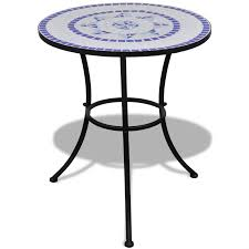 White Bistro Table Blue White Mosaic Bistro Table 60 Cm With 2 Chairs Blue White