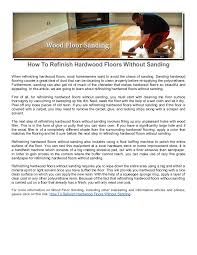Restoring Hardwood Floors Without Sanding How To Refinish Hardwood Floors Without Sanding