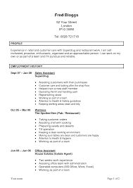 Resume Employment History Sample by Resume Example For Retail Assistant Manager Templates