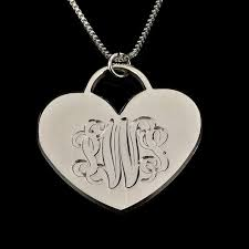 3 Initial Monogram Necklace Sterling Silver 43 Best Engraved Necklaces Images On Pinterest Personalized