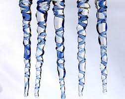 glass icicles etsy