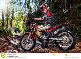 dirt bike motocross motocross rider with bike in dirt track stock photo image 47194155