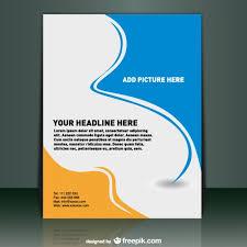 free flyer design template vector presentation template free