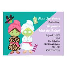 spa party invitations u0026 announcements zazzle