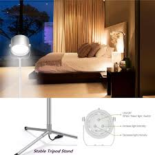 oxyled led floor lamp remote control led light with sturdy tripod