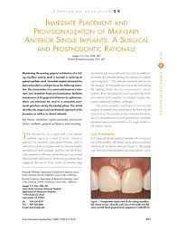 Single K He Immediate Placement And Provisionalization Of Maxillary Anterior