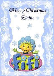 personalised fifi flowertots christmas card