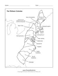 the thirteen colonies map free printable 13 colonies map pdf labeled blank map