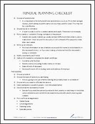 funeral planning checklist 5 funeral planning checklist template sletemplatess