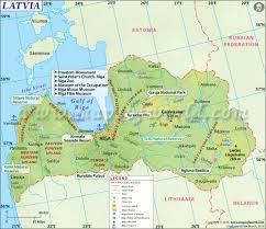Map Of The Strip Latvia Map Map Of Lativia