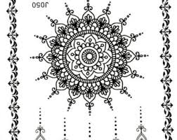 henna tattoo black temporary tattoo mandala tattoo mehendi