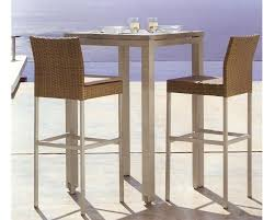 Aluminium Bar Table Stylish Rattan Bar Stools Thedigitalhandshake Furniture