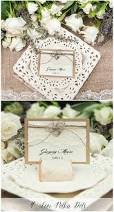 wedding bohemian wedding favours beautiful beautiful wedding place card with lace and wooden holder rustic