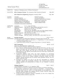 Best Resume Format For Fresher Software Engineers by Computer Science Engineering Resumes For Freshers Free Resume