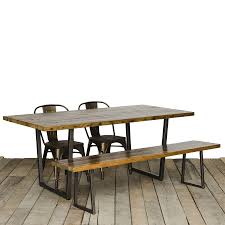 wooden dining room table industrial reclaimed table modern rustic furniture recycled