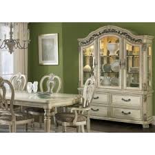 hutch with solids hardwood and antique ivory finish