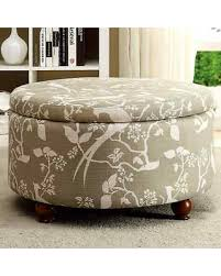 Grey Fabric Storage Ottoman Here S A Great Deal On Storage Ottoman With Bird Floral