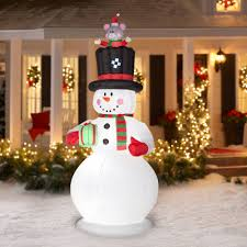 snowman curtains kitchen gemmy airblown inflatables christmas inflatable 9 u0027 country snowman