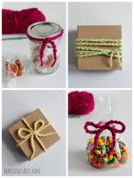 gift wrap ribbon crochet a day chain stitch wrapping ribbon make and takes
