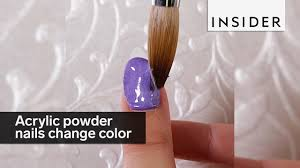 these acrylic powder nails change colors youtube