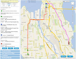 Seattle Monorail Map by Metro U0027s New Beta Trip Planner Try It