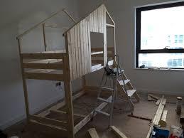 How To Build An Interior Wall Make An Indoor Playhouse Bunk Bed Ikea Mydal Hack Ikea Hackers