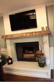 Wood Mantel Shelf Pictures by Best 25 Tile Around Fireplace Ideas On Pinterest Tiled