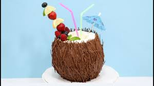 3d cake coconut cocktail 3d cake how to decorate with chocolate by