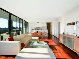 White Living Room Glass Cabinets Recessed Lighting White Wall Ivory Sectional Floor To Ceiling