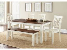 dining room furniture maryland steve silver dining room aida two tone table aa500tbv carol house