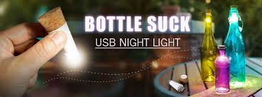 cork shaped rechargeable bottle light 2018 originality multicolor light cork shaped rechargeable usb