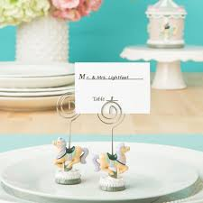 Table Name Cards by Carousel Horse Place Card Holders