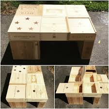 Wine Crate Coffee Table Diy by Wine Crate Coffee Table Diy Project Wine Time Pinterest Wine