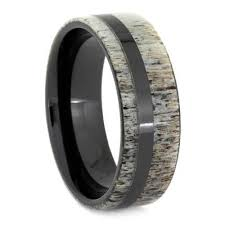 deer antler wedding band black ceramic antler ring deer antler wedding band jewelry by johan