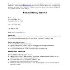 nanny resume exles resume exle for nanny copy resume nanny gotraffic co fresh