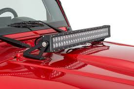 jeep jk hood led light bar jeep wrangler 20 led light bar hood mount