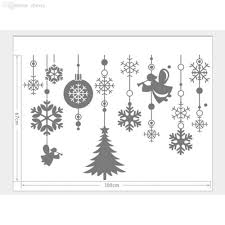 wholesale new white wall window stickers angel snowflake christmas