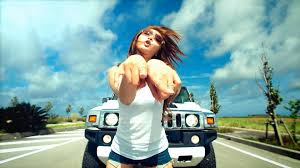 wallpaper girl style wallpaper car vehicle emotion driving girl style gesture