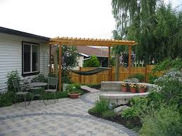 Simple Backyard Landscaping by Inexpensive Patio Ideas Floor Best Flooring On Pinterest Outdoor