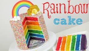 rainbow cake tutorial cake style youtube