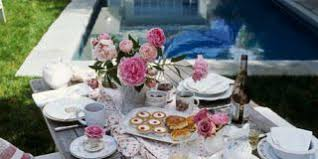 tea party table ashwell s casual table setting shabby chic accessories