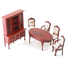 Doll House Furniture Df268 1 12 Scale Dolls House Furniture Dining Room Set Minimum World