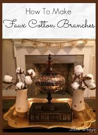 Diy Home Decor Crafts Blog by Recycled Diy Decor Faux Raw Cotton Branches U2022 Recyclart