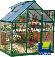 Palram Polycarbonate Greenhouse Palram Nature Series Hybrid Hobby Greenhouse Silver Or Green