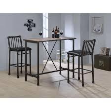 Bar Stool Sets Of 3 Acme Furniture Caitlin Rustic Oak Pub Bar Table 72030 The Home Depot