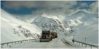 Ice road truckers at atigun pass on dalton highway alaska365