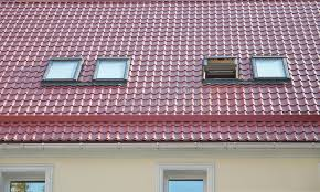 Dormers Roof Red Metal Tiled Roof With New Dormers Roof Windows Skylights