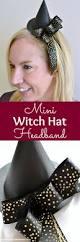 diy mini witch hat headband