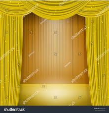 golden curtains spotlight on stage opera stock vector 504927535