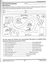 intermediate directions worksheet worksheets
